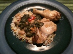 a nice plate of chicken