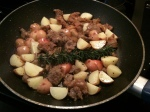potatoes with lamb sausage