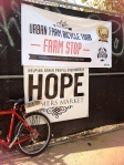 bike parked at Hope Farmer's Market