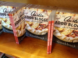 the cookbook on display